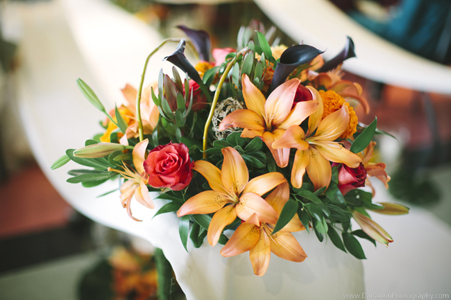 Roses, Lilies and Mini Callas