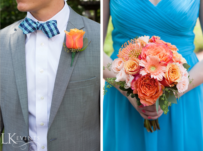 Turquoise and Peach Theme