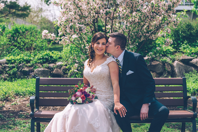 Frid and Groom on Park Bench