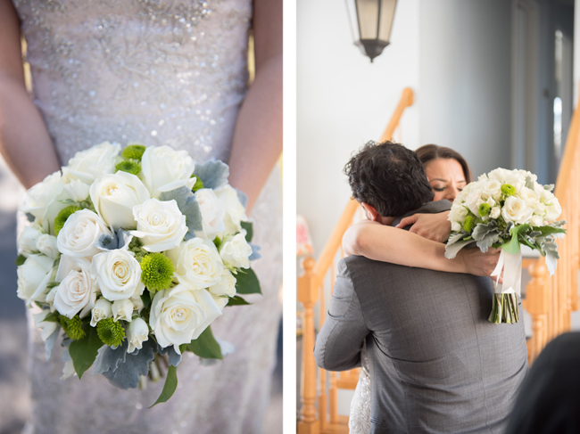 Bridal Bouquet and Couple