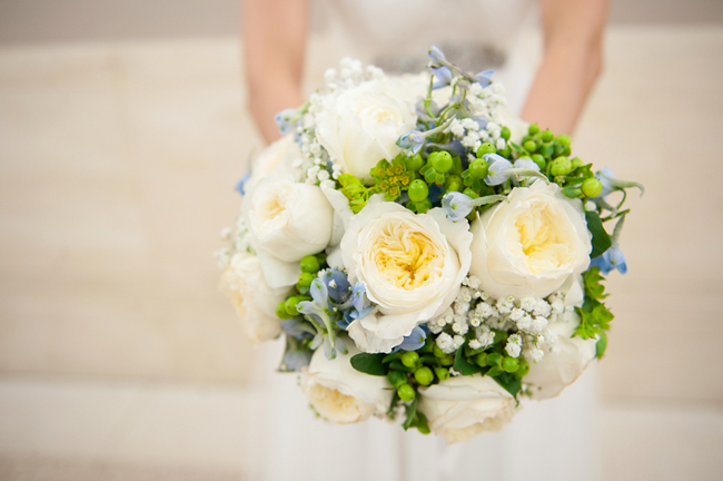 White, Green and Blue Bouquet