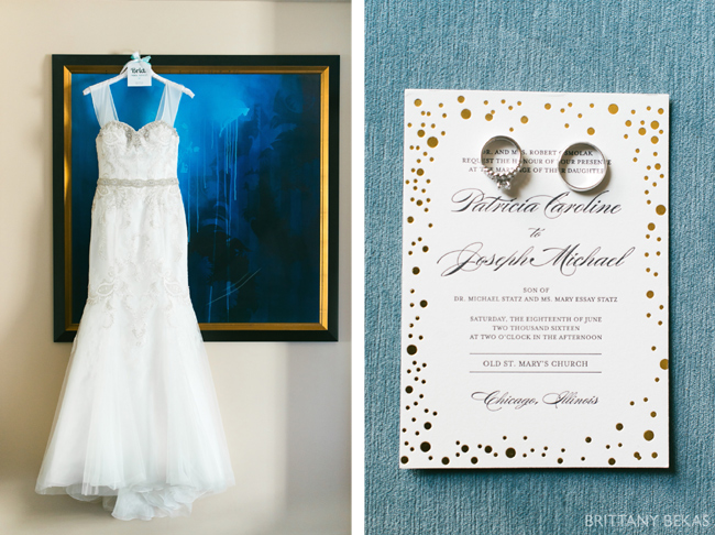 Bridal Gown and Invitation