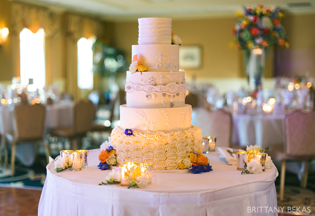 Wedding Cake and Floral Accents