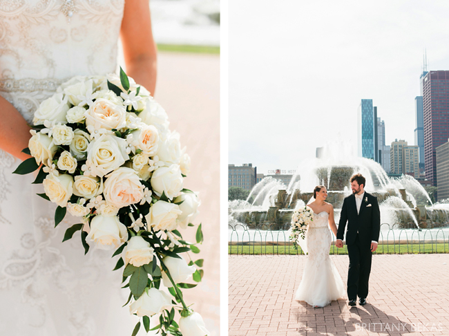 Cascade Bouquet and Chicago Couple