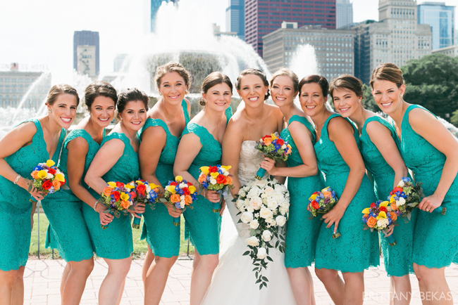 Colorful Bridesmaid's Bouquets