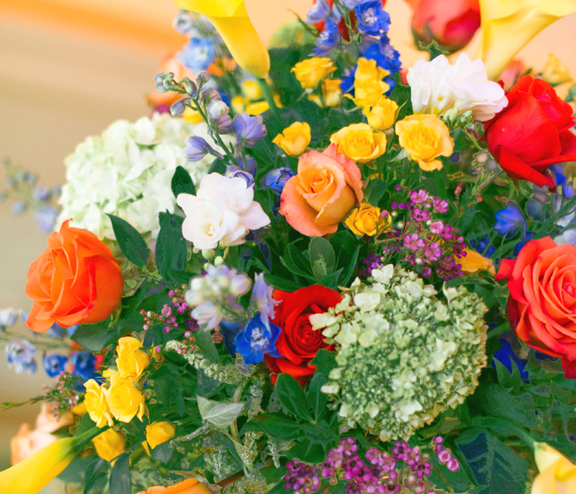 Bright Summer Flowers Centerpiece