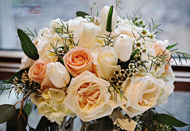 Peach and White Floral Bouquet