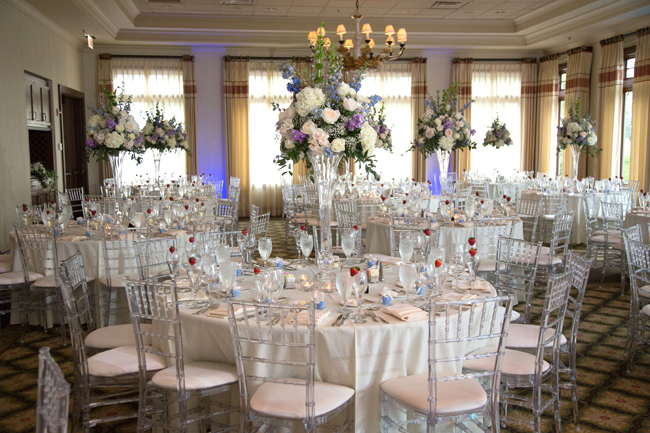 Country Club Reception Blue And Lavender Wedding