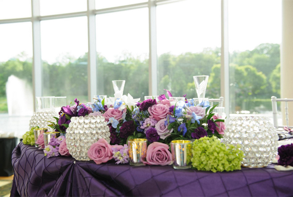 Lavender and Green Floral Theme