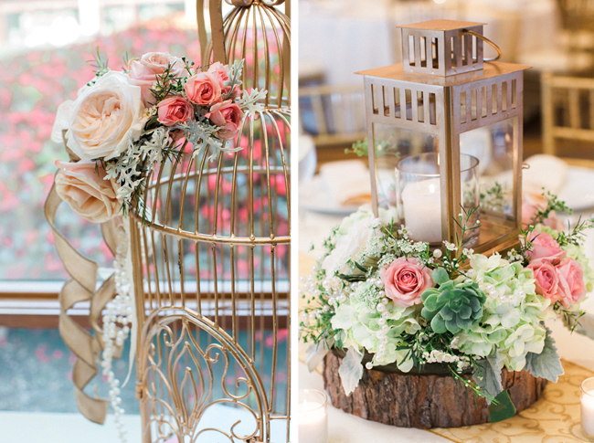 Rustic Mint, Pink and Gold Theme