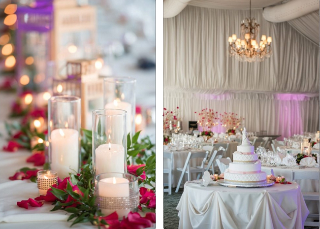 Pink, White and Gold Reception