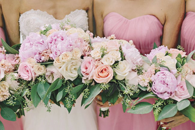 Roses and Peonies Bouquets
