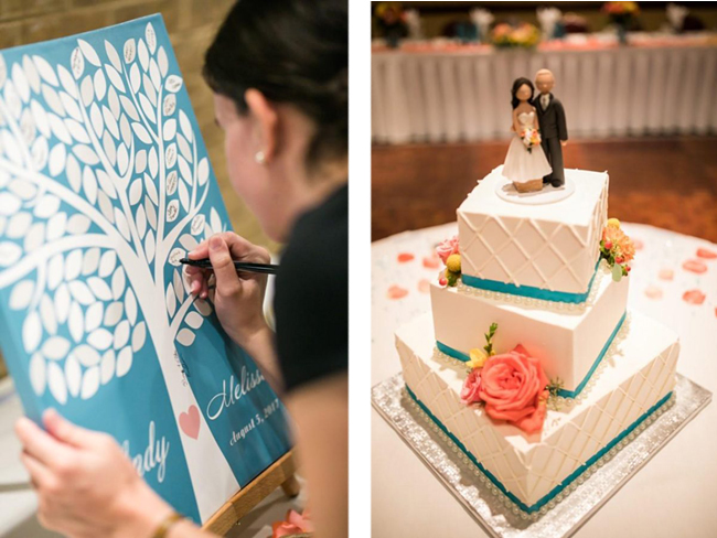 Coral and Teal Wedding Theme