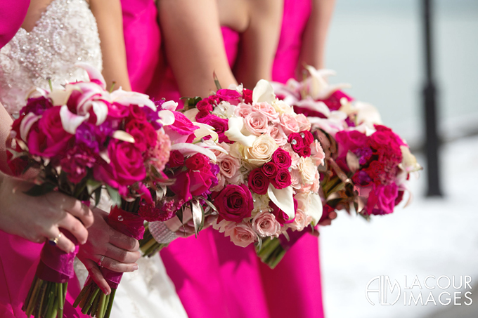 Luxurious Pink Wedding Bouquets