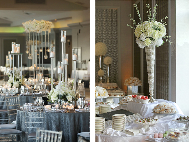 Silver and White Wedding Theme