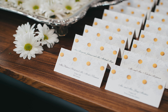 Daisies and Placecards
