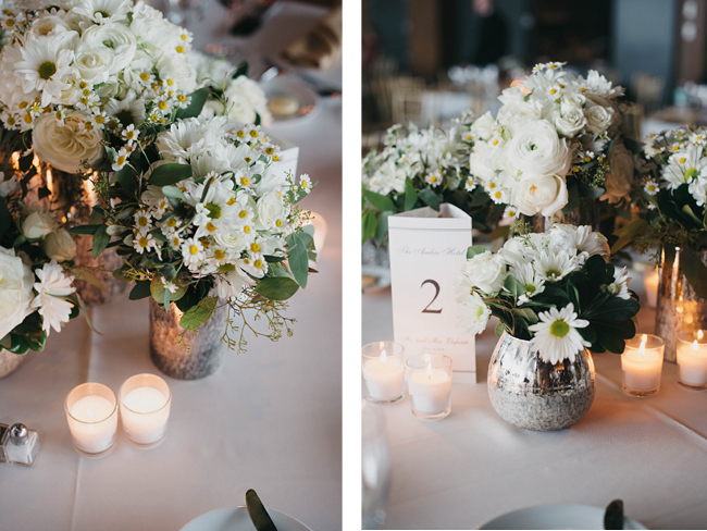 Romantic White Centepieces