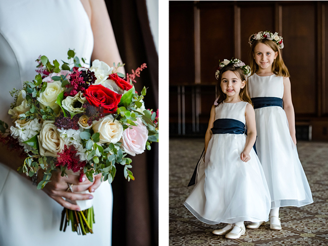 Bridal Bouquet and Flower Girls