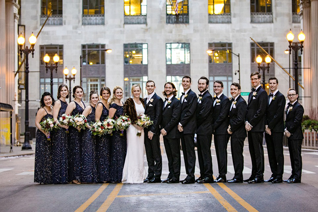 Black Tie Wedding Party
