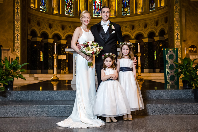 Bride, Groom and Flower Girls