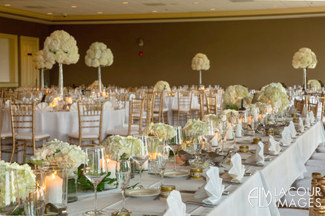 White Candlelight Reception