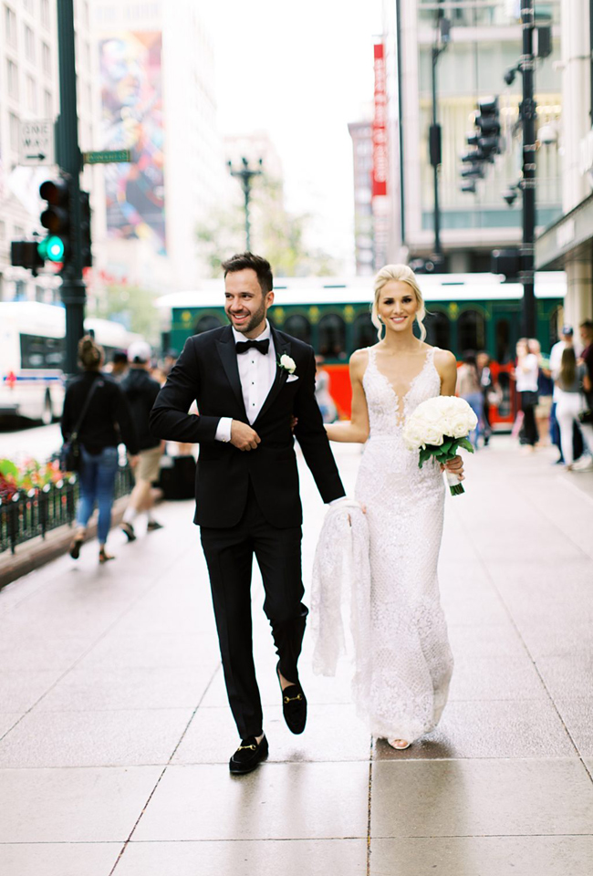 Downtown Chicago Bride and Groom